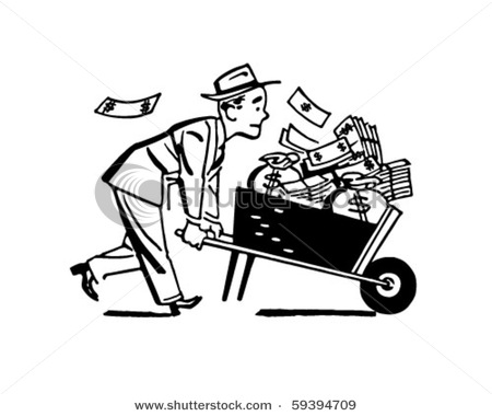 stock-vector-wheelbarrow-of-cash-retro-clip-art-59394709