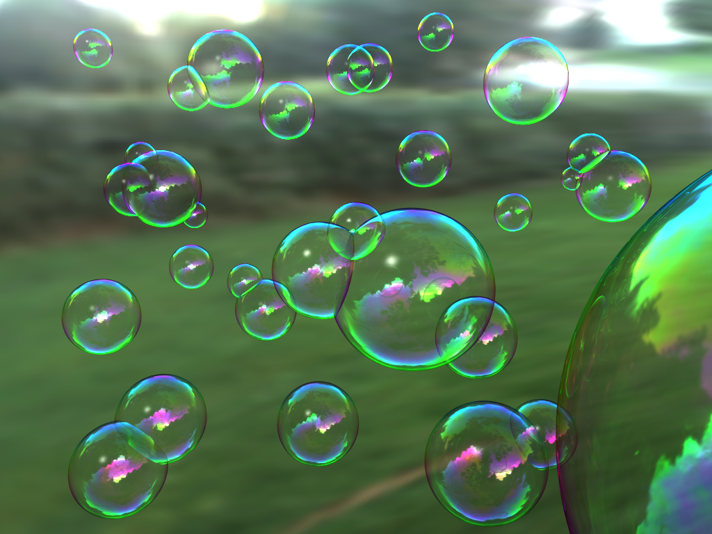 Soap bubbles RGB
