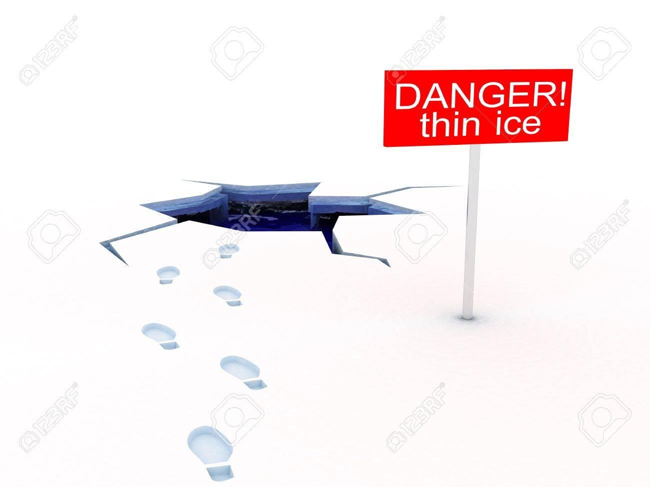 3943006-3d-illustration-of-danger-of-thin-ice-white