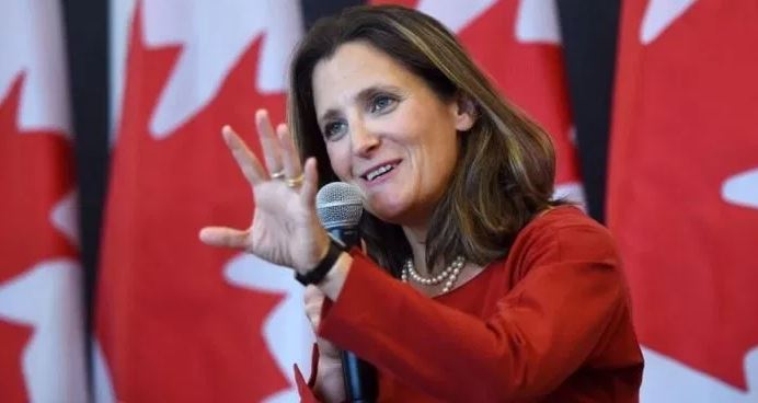 Cudos to Chrystia Freeland