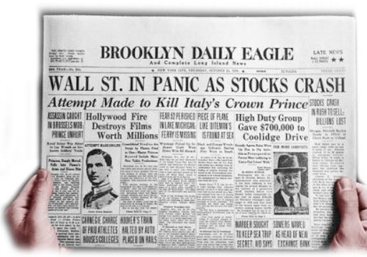 What headline to write when the financial system changes before our eyes…